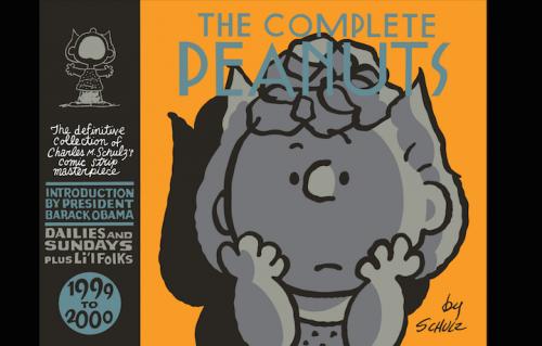 La copertina dell'ultimo volume di The Complete Peanuts, con l'introduzione di Barack Obama