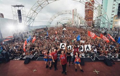 Un momento dello show di Major Lazer a Cuba