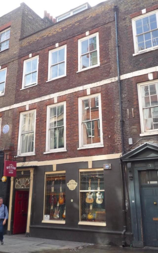 La casa dei Sex Pistols di Denmark Street, Londra - FOTO DI HISTORIC ENGLAND