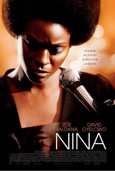"""La locandina di """"Nina"""", con Zoe Saldana nel ruolo di Nina Simone"""