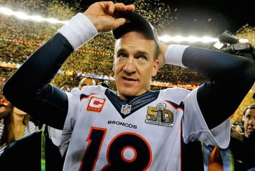 Peyton Manning dopo l'ultimo Super Bowl vinto. Foto: Ben Liebenberg/NFL