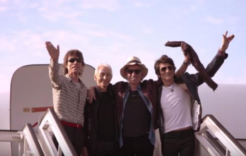 Un frame del video dei Rolling Stones alla Ciudad Deportiva de L'Avana, Cuba. Il 25 marzo scorso