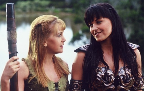 Renée O'Connor e Lucy Lawless