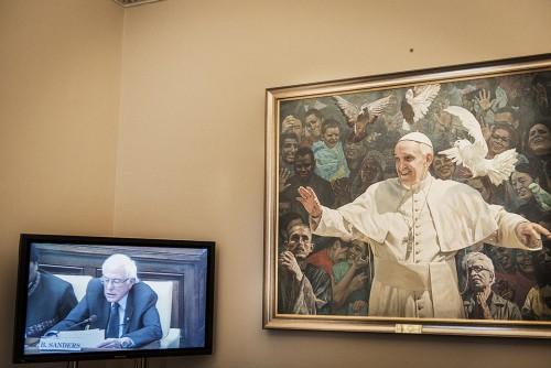 Bernie Sanders, Rome, Roma, Vaticano, april 2016, aprile 2016, foto, gallery, ilaria magliocchetti lombi