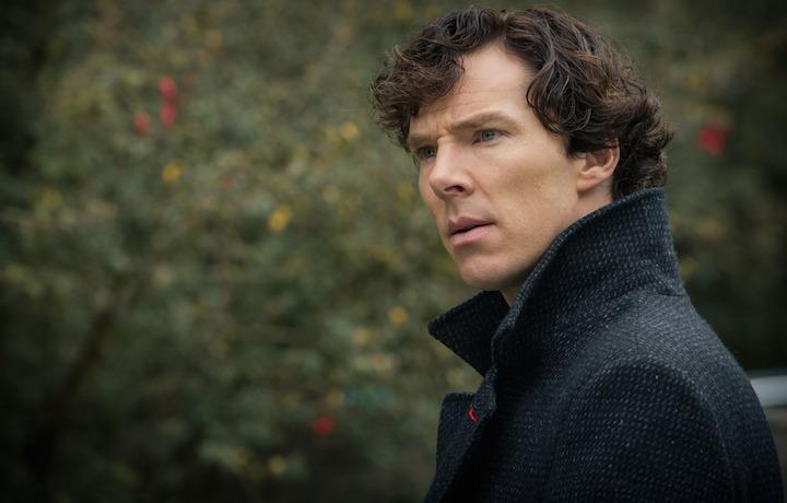 """Cumberbatch è tornato sul set per la quarta stagione di """"Sherlock"""". Foto: Robert Viglasky"""