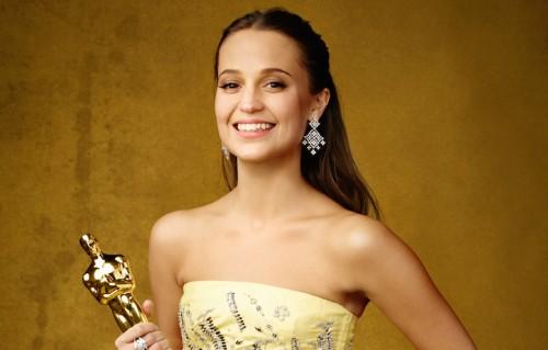 """Alicia Vikander, vincitrice dell'Oscar per """"The Danish Girl"""""""
