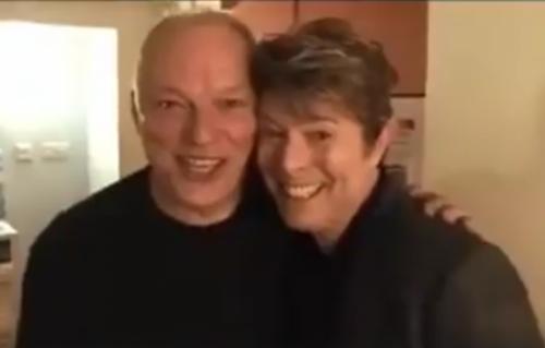 Bowie e Gilmour