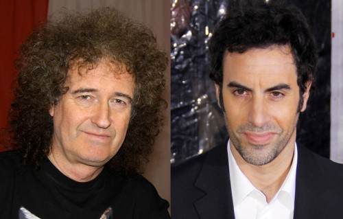 Brian May e Sacha Baron Cohen