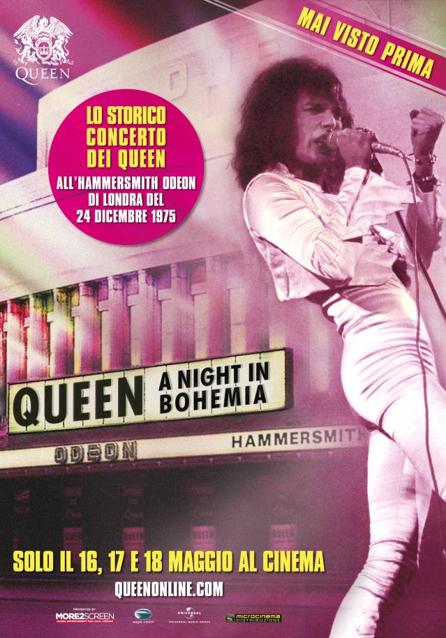 """La locandina ufficiale di """"Queen: A Night In Bohemia"""""""