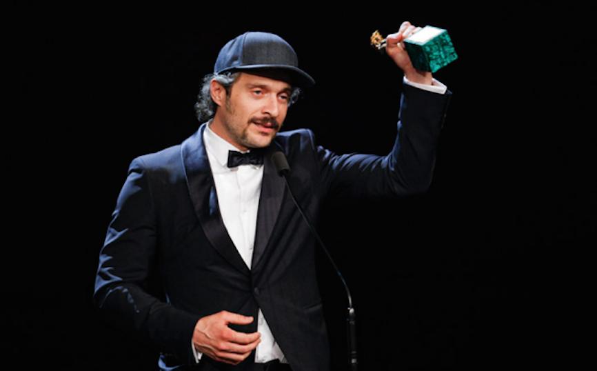 """Claudio Santamaria, """"Miglior attore protagonista"""" ai David di Donatello 2016. Foto: sky.it"""