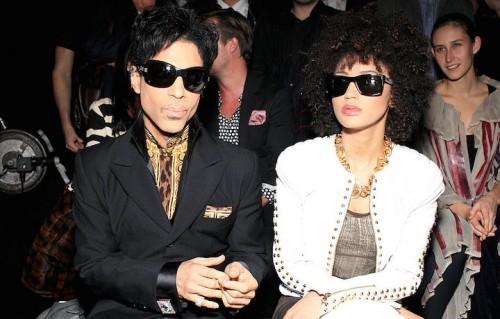 Prince e Andy Allo allo show di Versace per H&M