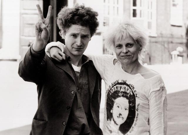 Malcolm McClaren insieme a Vivienne Westwood