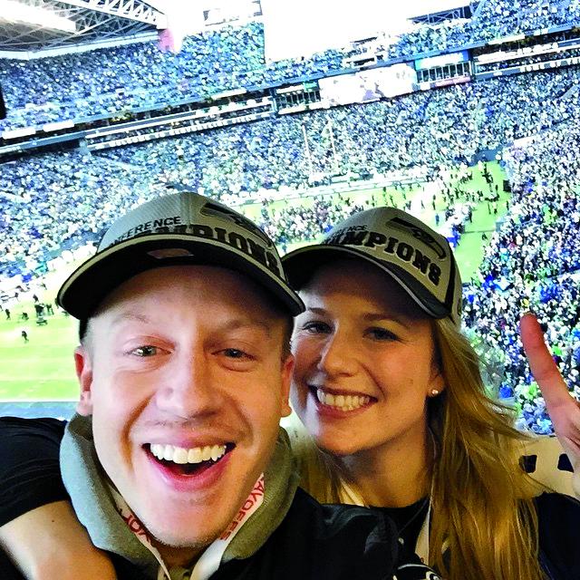 Macklemore insieme alla moglie Tricia Davis, dal profilo Instagram del rapper