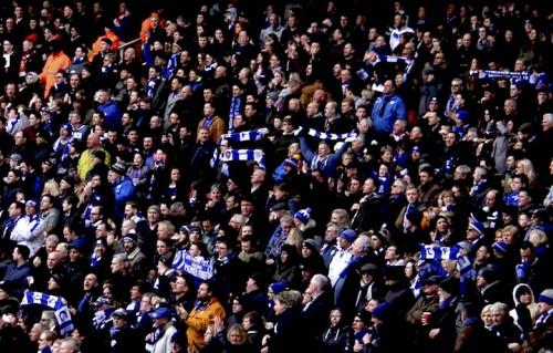 Un'immagine della tifoseria del Leicester. Foto: Ronnie Macdonald