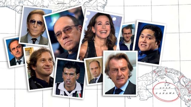 Dettaglio della copertina de L'Espresso uscito venerdì 8 aprile, con i primi 100 nomi italiani nei Panama Papers