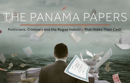 L'immagine in home page dell'International Consortium of Investigative Journalists