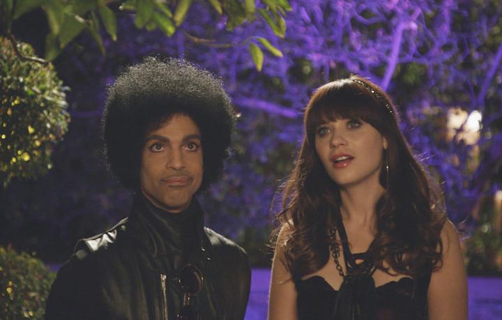 """Prince e Zooey Deschanel nella puntata di """"New Girl"""""""