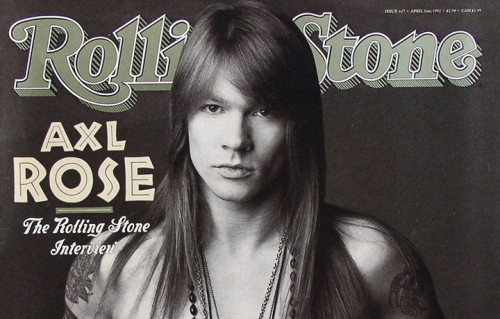 Axl Rose sulla copertina del Rolling Stone numero 627, del 2 aprile 1992