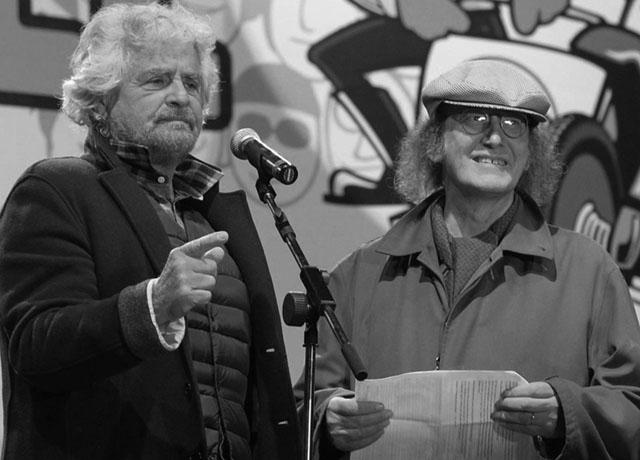 Beppe Grillo con Gianroberto Casaleggio