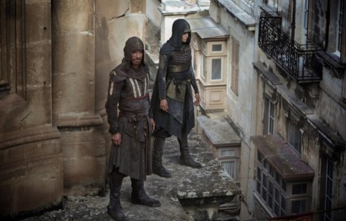 Una immagine dal set di Assassin's Creed