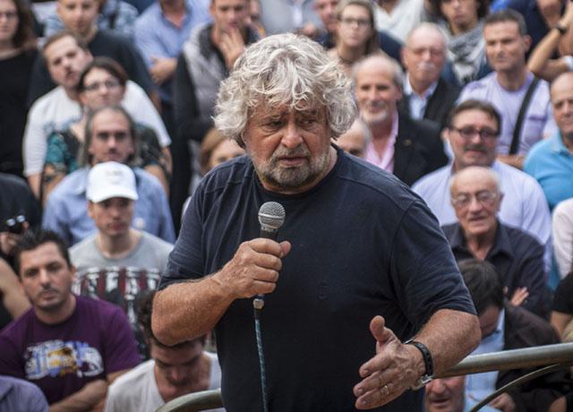 Beppe Grillo, Termini Imerese - Ottobre 2012 - Foto Giuseppe Gerbasi/contrasto