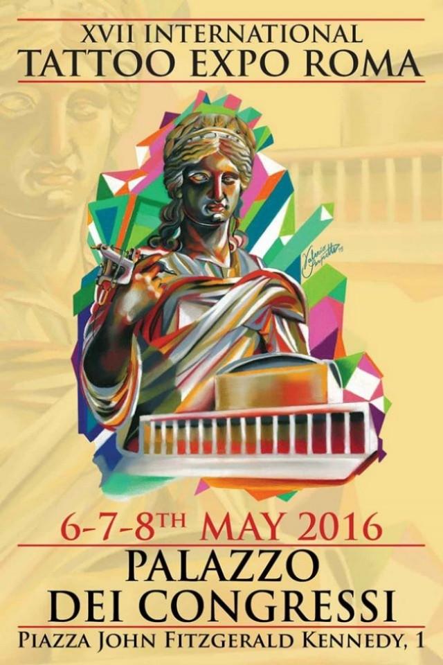 Roma Tattoo Expo, dal 6 all'8 maggio presso il Palazzo Dei Congressi in Piazzale John Fitzgerald Kennedy a Roma