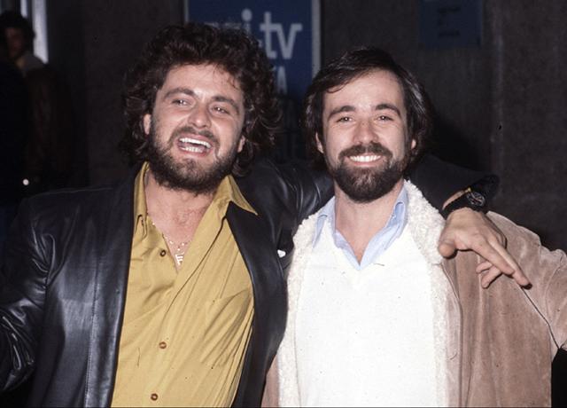 Beppe Grillo con l'autore e produttore televisivo Antonio Ricci - Foto Angelo Palma/contrasto