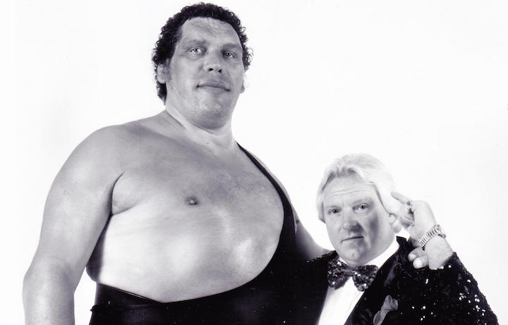 Andre The Giant con il suo manager storico Bobby Heenan. Foto: Steve Taylor