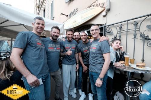 "Beppe Bergomi, Francesco Toldo, Tommaso Marino, Bruno Cerella, ""Camerieri X un Giorno"", Burger Waves, Onlus Slums Dunk"