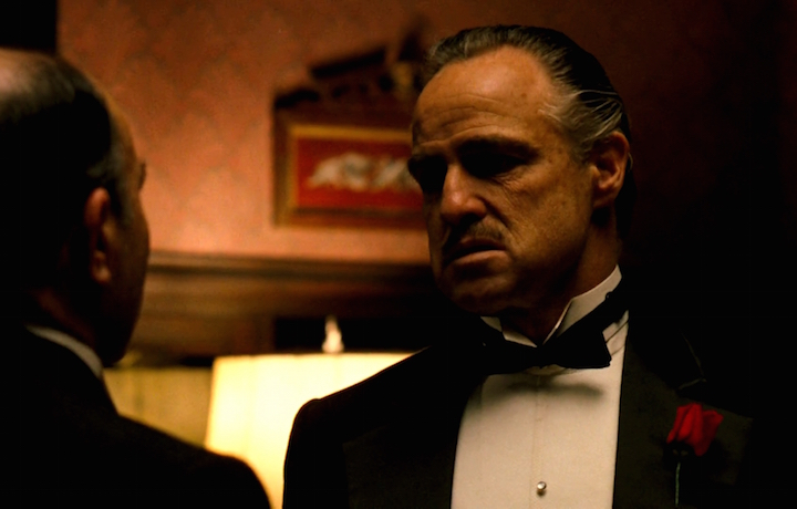 Don Vito Corleone interpretato da Marlon Brando