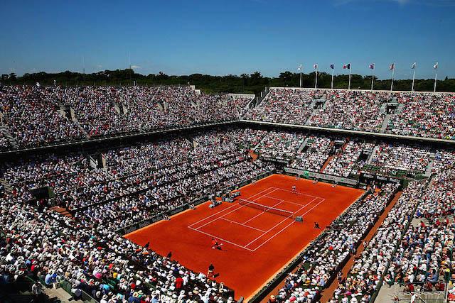 Il campo del Roland Garros, edizione 2015. Foto: Dan Istitene/Getty Images