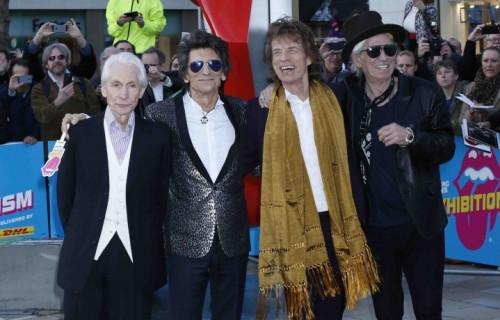 """Gli Stones all'inaugurazione della mostra """"Exhibitionism"""""""