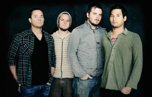 I Thrice con Dustin Kensrue (secondo da destra)