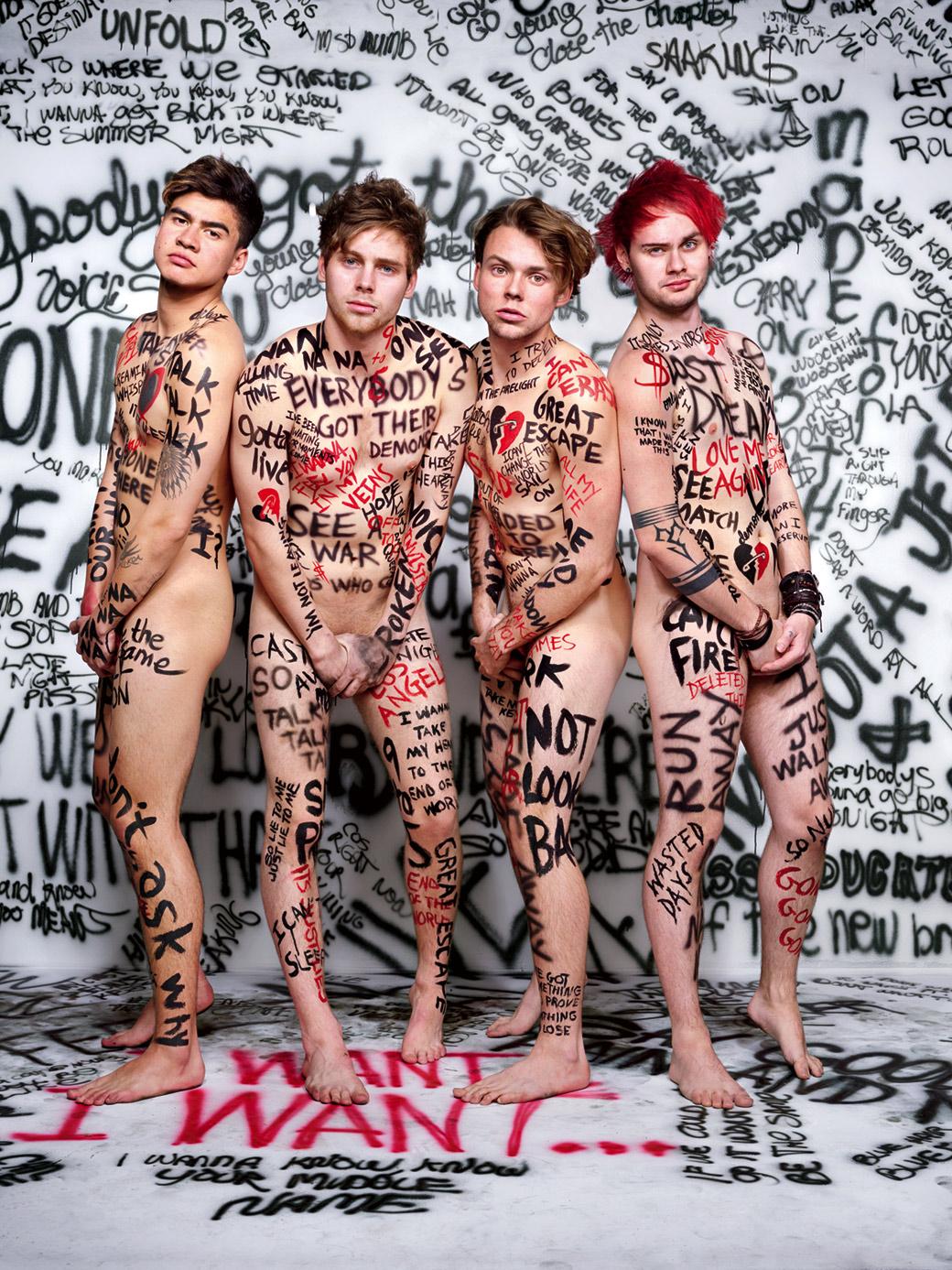 I 5SOS sono Luke Hemmings, Michael Clifford, Calum Hood e Ashton Irwin - Foto Martin Schoeller per Rolling Stone