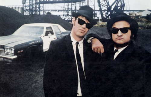 Aykroyd e Belushi, in arte Blues Brothers