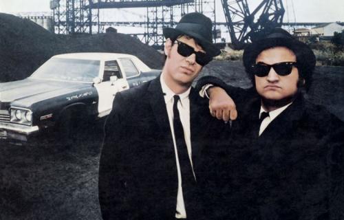 Aykroyd e Belushi, in arte Blues Brothers