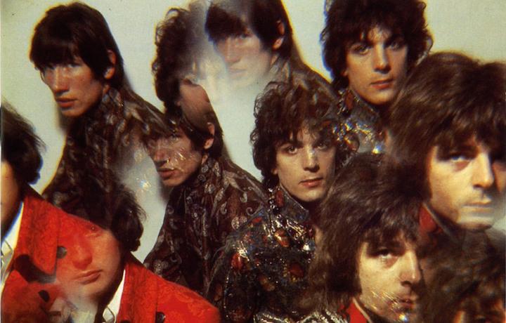 "I Pink Floyd sulla copertina di ""The Piper at the Gates of Dawn"""