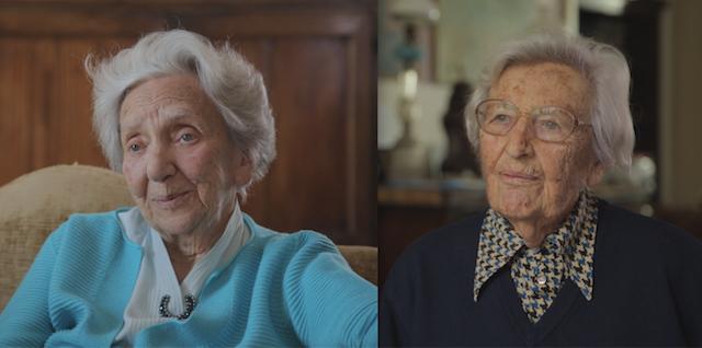Alberta Levi e Marisa Rodano oggi, a 91 e 95 anni