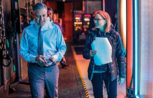 "Jodie Foster e George Clooney sul set di ""Money Monster"""