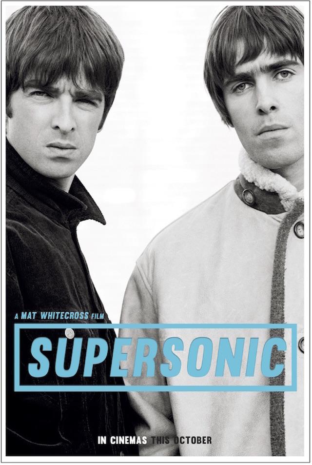 """Il poster di """"Supersonic"""", il film sulla vita dei fratelli Gallagher che uscirà a ottobre 2016"""