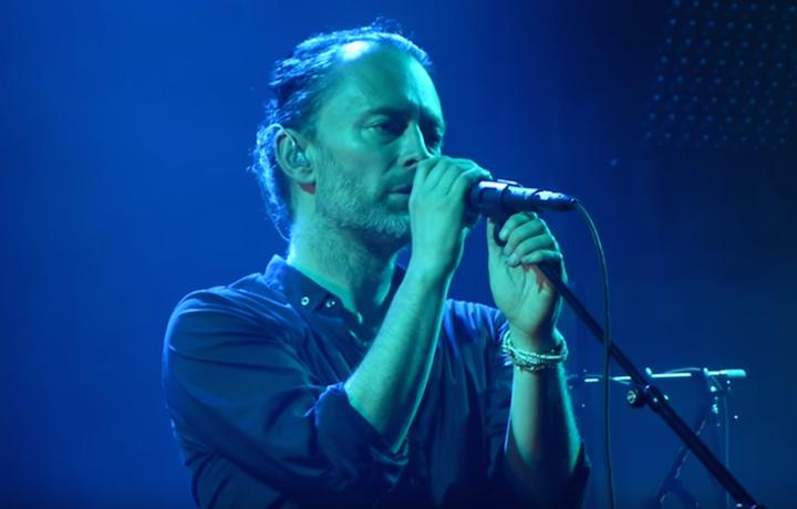 Thom Yorke con i Radiohead - Foto Via Facebook