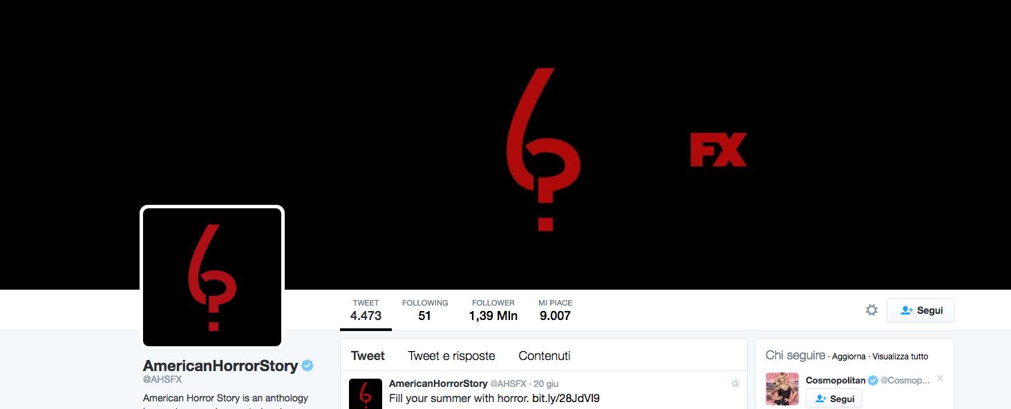 Il profilo Twitter di American Horror Story ha qualcosa da dirci sulla stagione 6 in arrivo