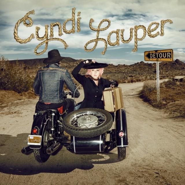 """La copertina di """"Detour"""", il nuovo album di Cyndi Lauper"""