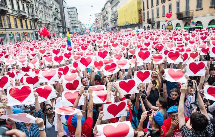 Un'immagine della Milano Pride 2015. Foto: Alice Redaelli