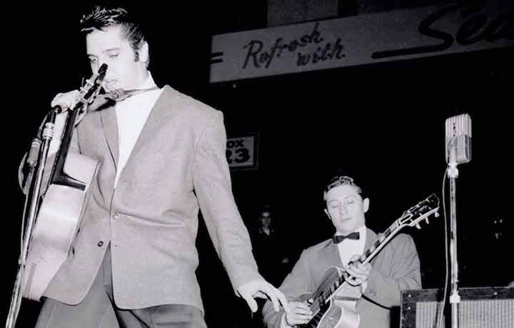 Elvis e Scotty Moore in concerto