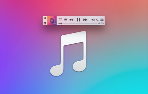 Il mini player del nuovo iTunes