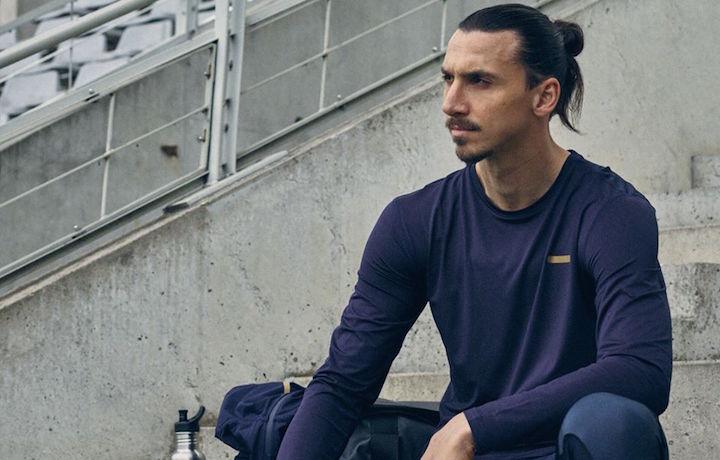 Zlatan Ibrahimovic in un'immagine pubblicitaria della sua collezione