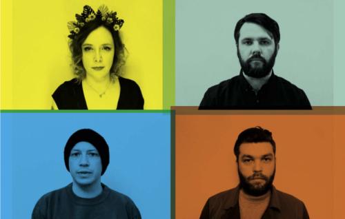 I Minor Victories si sono formati nel 2015 senza praticamente conoscersi e sono (da sinistra in alto, in senso orario): Rachel Goswell, voce degli Slowdive, James Lockey, filmmaker, Justin Lockey, chitarrista degli Editors e Stuart Braithwaite, chitarrista dei Mogwai