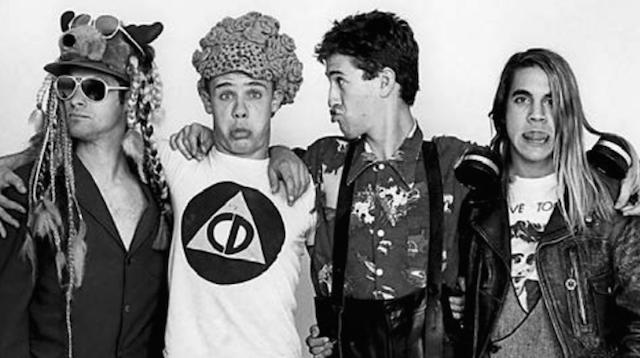 Cliff Martinez, Flea, Hillel Slovak e Anthony Kiedis: ovvero i Red Hot Chili Peppers il 30 ottobre 1985. Cliff ha suonato con loro tra l'83 e l'85