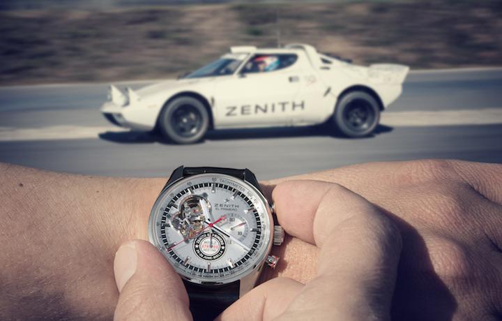 Una Lancia Stratos e il cronografo El Primero di Zenith in edizione limitata